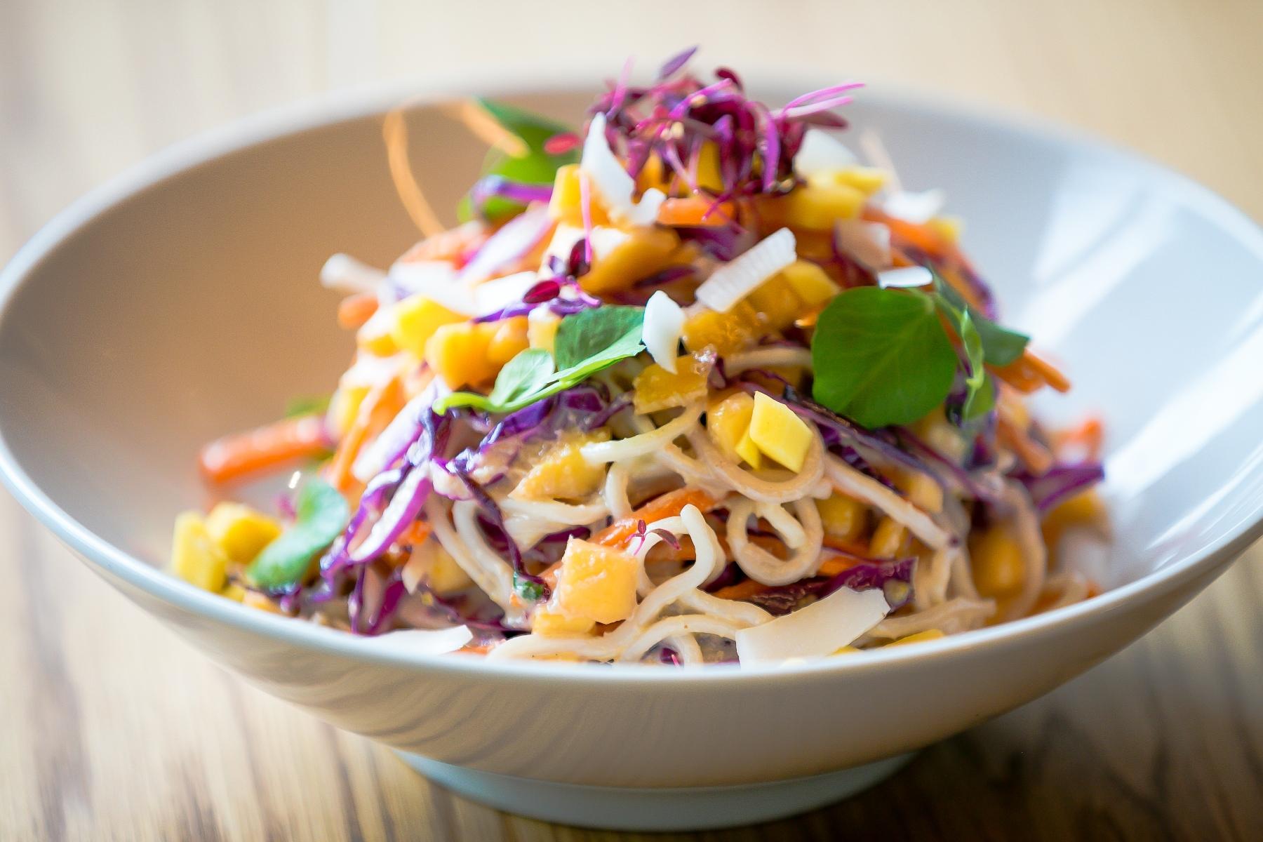 Veg main-Coconut Mango Noodle Salad